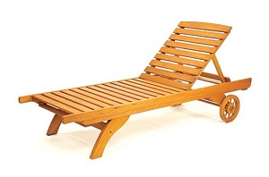 Patio furniture chaise lounge eucalyptus wood classic for Chaise eucalyptus