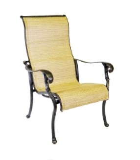 Patio Furniture Cast Aluminum Sling Chair Dining Arm Summit
