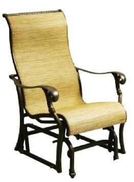 Patio Furniture Cast Aluminum Sling Glider Chair Summit