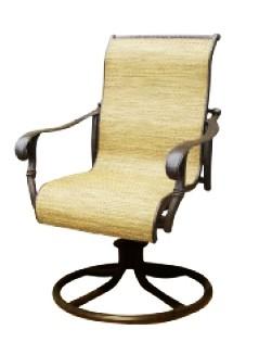 Patio Furniture Cast Aluminum Sling Rocker Swivel Arm