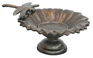 Birdbath Tabletop Cast Iron Dragonfly