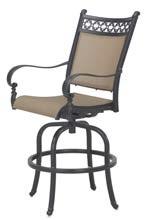 Patio Furniture Cast Aluminum/Sling Swivel Bar Chair ...