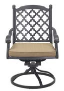 Patio Furniture Rocker Swivel Cast Aluminum Chair (Set/2) Madsion