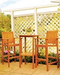 Patio Furniture Bar Set Eucalyptus Grandis 3pc