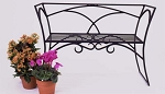Patio Furniture Bench Arbor Wrought Iron with Back