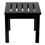 Patio Furniture Table End Eucalyptus Grandis Square Black