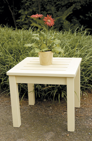 Patio Furniture Table End Eucalyptus Grandis Square