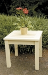 Patio Furniture Table End Eucalyptus Grandis Square Antique Ivory