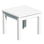 Patio Furniture Table End Eucalyptus Grandis Square White
