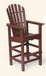 Patio Furniture Barstool Polyresin Adirondack