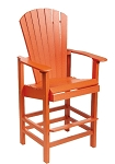 Patio Furniture Bar Stool Polyresin Beachfront Adirondack