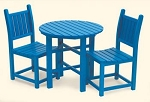 Patio Furniture Bistro Set Polyresin Coral Reef Café 3pc