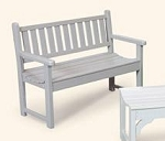 Patio Furniture Bench Polyresin Classic Garden