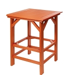 Patio Furniture Table Bar Polyresin Square 33