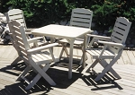 Patio Furniture Dining Set Polyresin Lighthouse 5pc