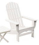 Patio Furniture Adirondack Chair Polyresin Seashell