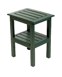 Patio Furniture Table Side Polyresin Two-Shelf