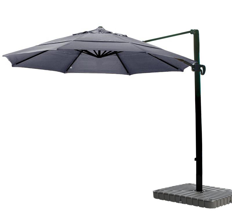 Cantilever Umbrella Aluminum 11 Foot Sunbrella Canvas Navy
