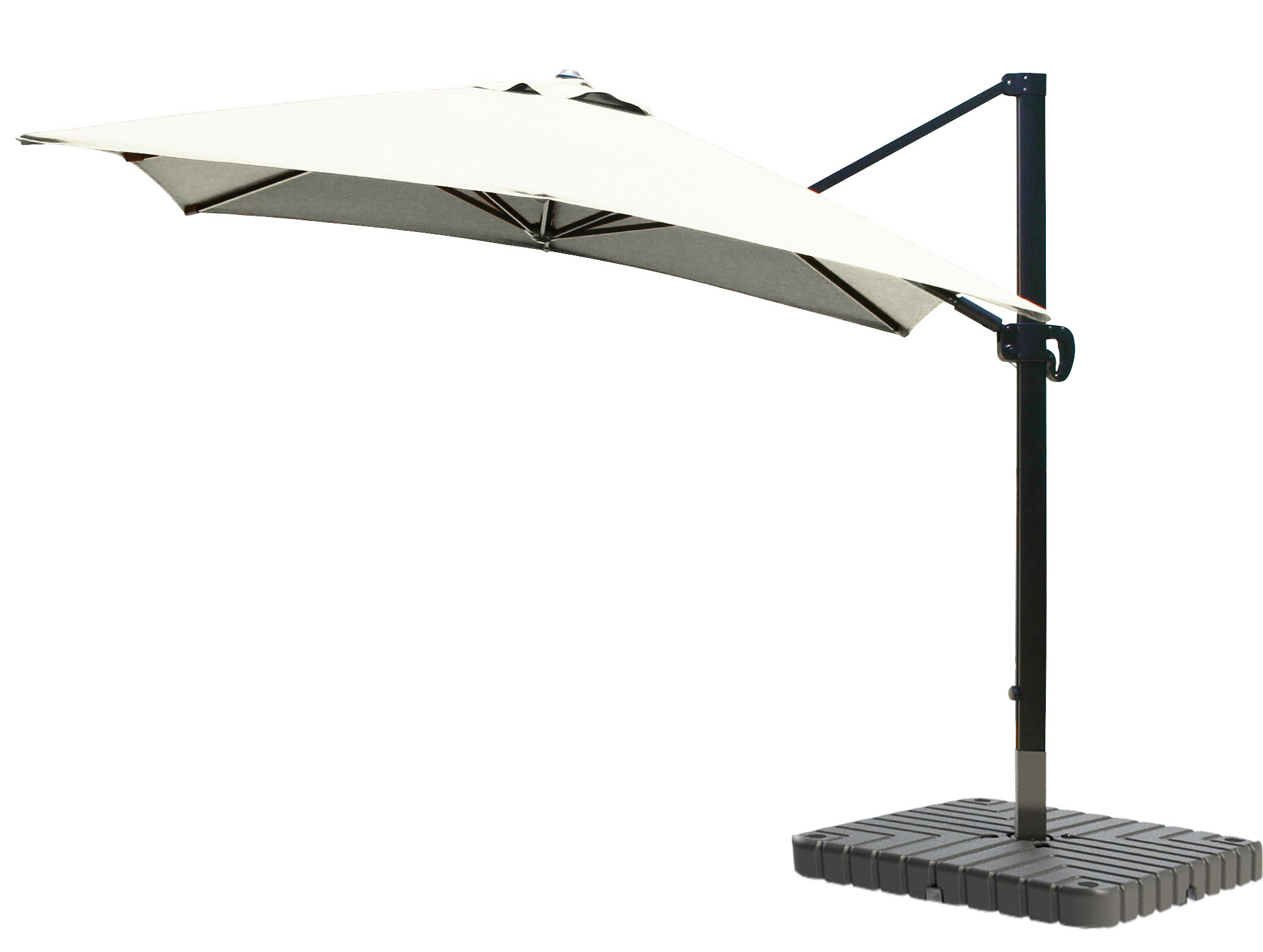 Cantilever Umbrella Aluminum 10 Foot Square Sunbrella Canvas
