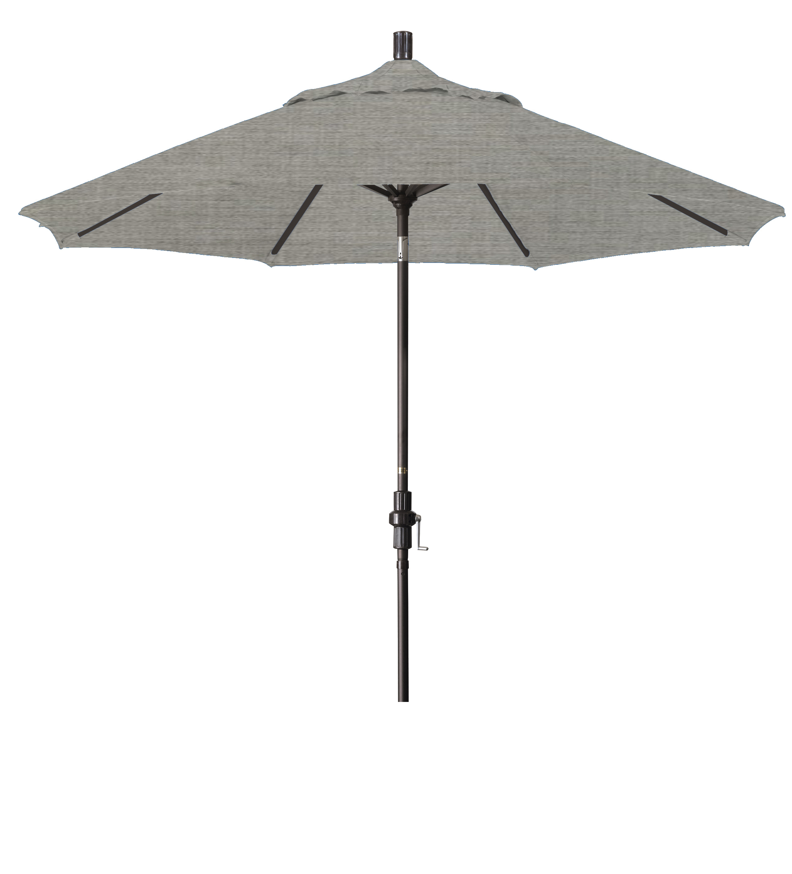 Market Umbrella Aluminum Collar Tilt Sunbrella Canvas Henna 5407