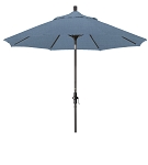 Market Umbrella Aluminum Collar Tilt Sunbrella Canvas Air Blue 5410