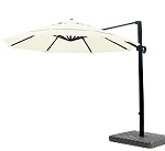 Cantilever Umbrella Aluminum 11-Foot Sunbrella Canvas Natural 5404