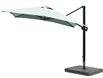 Cantilever Umbrella Aluminum 10-Foot Square Sunbrella Spectrum Mist 48020
