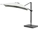 Cantilever Umbrella Aluminum 10-Foot Square Sunbrella Canvas Granite 5402