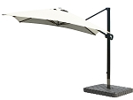 Cantilever Umbrella Aluminum 10-Foot Square Sunbrella Canvas Natural 5404