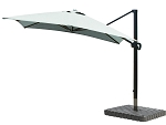Cantilever Umbrella Aluminum 10-Foot Square Sunbrella Canvas Spa 5413