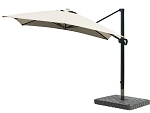 Cantilever Umbrella Aluminum 10-Foot Square Sunbrella Canvas Antique Beige 5422