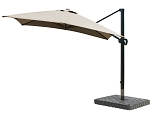 Cantilever Umbrella Aluminum 10-Foot Square Sunbrella Canvas Cocoa 5425
