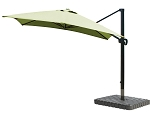 Cantilever Umbrella Aluminum 10-Foot Square Sunbrella Canvas Macaw 5429