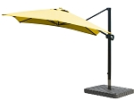 Cantilever Umbrella Aluminum 10-Foot Square Sunbrella Canvas Sunflower Yellow 5457