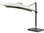 Cantilever Umbrella Aluminum 10-Foot Square Sunbrella Canvas Taupe 5461