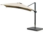 Cantilever Umbrella Aluminum 10-Foot Square Sunbrella Canvas Heather Beige 5476