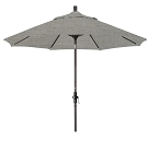 Market Umbrella Aluminum Collar Tilt Sunbrella Canvas Granite 5402