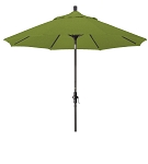 Market Umbrella Aluminum Collar Tilt Sunbrella Canvas Forest Green 5446