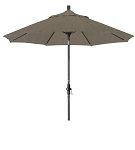 Market Umbrella Aluminum Collar Tilt Sunbrella Canvas Teak 5488