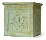 Planter Fiberglass Resin Botanical Cube