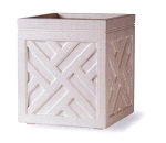 Planter Fiberglass Resin Chippendale Cube