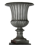 Urn Fiberglass Resin Fluted