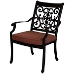 Patio Furniture Chair Dining Cast Aluminum (Set/2) St. Cruz