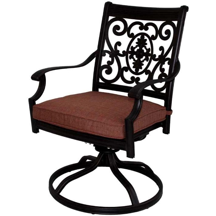 Patio Furniture Rocker Swivel Cast Aluminum Chairs (Set/2 ...