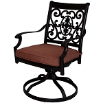 Patio Furniture Rocker Swivel Cast Aluminum Chairs (Set/2) St. Cruz