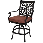 Patio Furniture Cast Aluminum Counter Stool Swivel St. Cruz