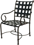 Patio Furniture Chair Dining Cast Aluminum (Set/2) Malibu