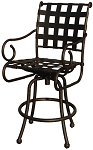 Patio Furniture Bar Stool Swivel Cast Aluminum Malibu