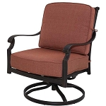 Patio Furniture Deep Seating Rocker Club Cast Aluminum Chair Swivel St. Cruz