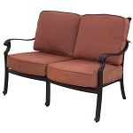 Patio Furniture Deep Seating Loveseat Cast Aluminum St. Cruz